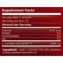 L- Carnitina 2000 mg 25 ampule