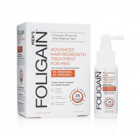 FOLIGAIN Tratament regenerare par barbati 5% Minoxidil & 5% Trioxidil® (2oz) 59ml