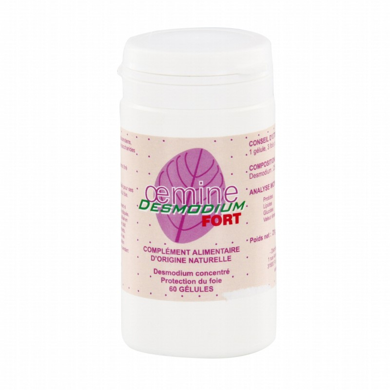 Oemine Desmodium Forte, protectie hepatica, Hepatoprotector, 60 capsule