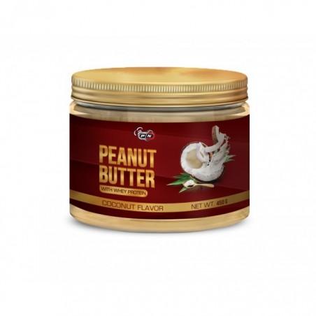 Pure Nutrition USA Unt de arahide, gust Cocos Nuca, cu Proteina din zer, 450 grame