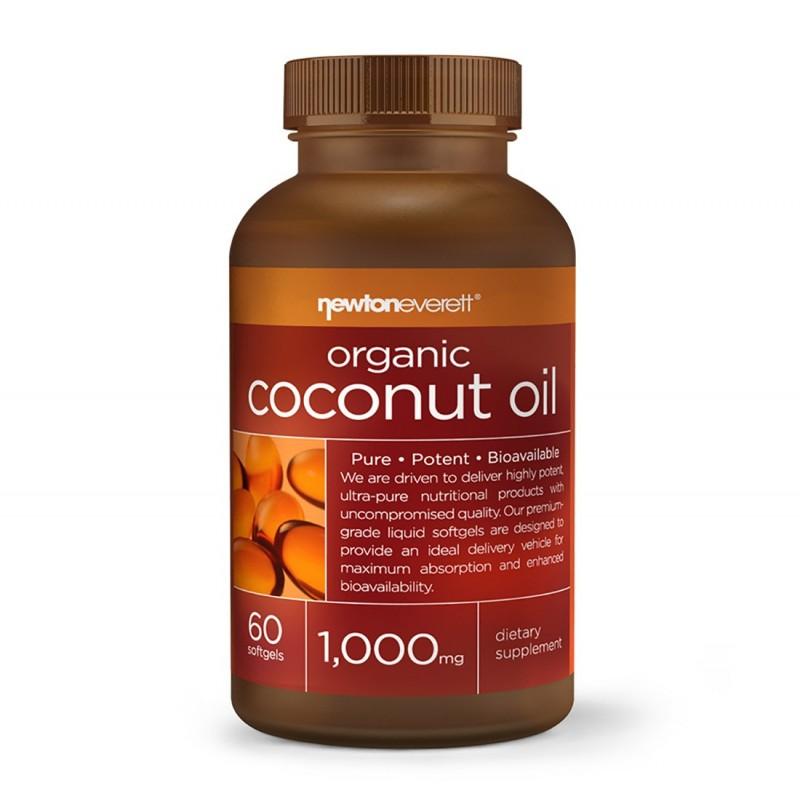 Ulei de Cocos Organic 1000mg 60 Capsule