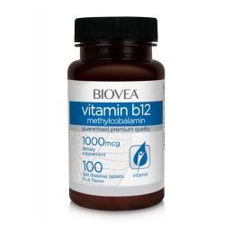 Vitamina B12 (Metilcobalamină) 1000 mcg 100 comprimate (dizolvare rapida)