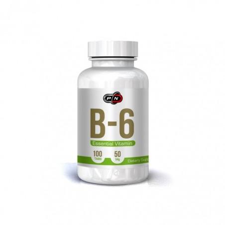 Pure Nutrition USA Vitamina B6 (Pyridoxine HCI) 50 mg 100 pastile