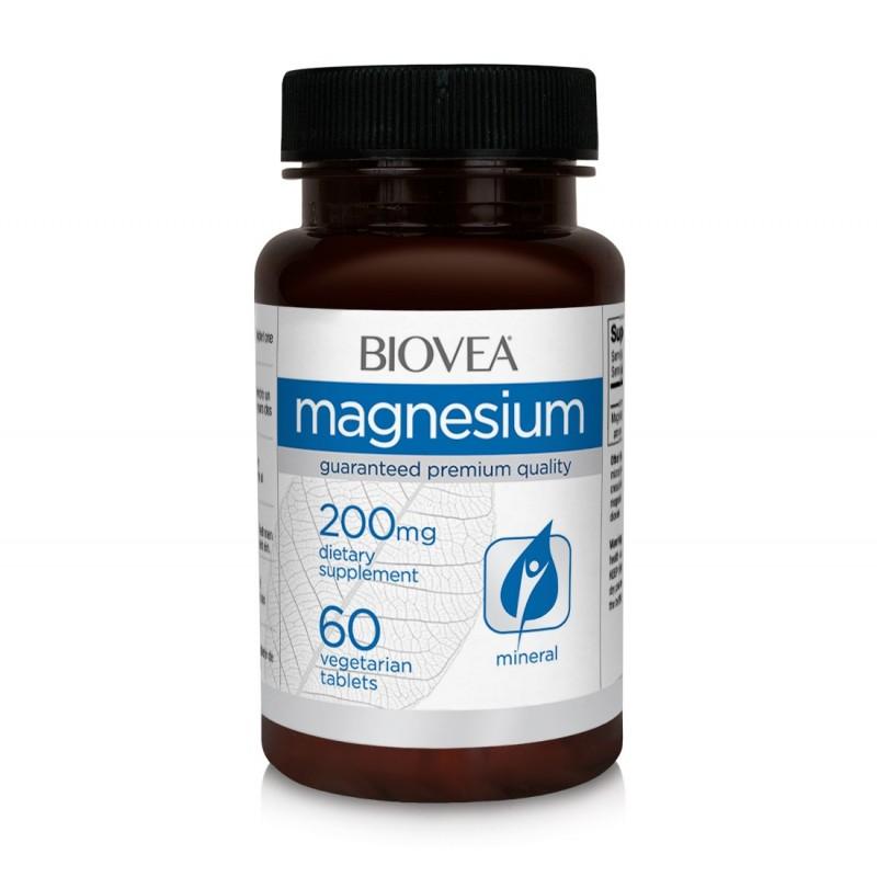 Magneziu 200mg 60 Pastile Biovea