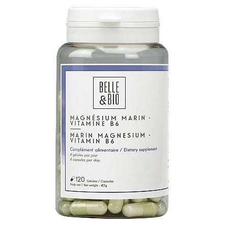Belle&Bio Magneziu marin - Vitamina B6, 120 capsule