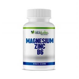 Magneiu, Zinc, Vitamina B6, 90 Tablete