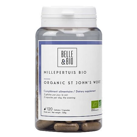 Belle&Bio Sunatoare Bio (Millepertuis Bio - St John's Wort) 120 capsule