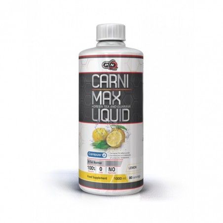 Pure Nutrition USA L-Carnitina cu Guarana 1000 ml