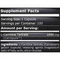 L-Carnitina 1000 mg 100 capsule. Taie pofta de mancare si apetitul