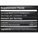 Creatina Monohidrata Micronizata pudra 500 grame, pulbere de creatina