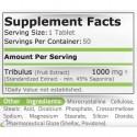 Tribulus Terrestris 1000mg 50 Pastile, creste tes-tosteronul natural