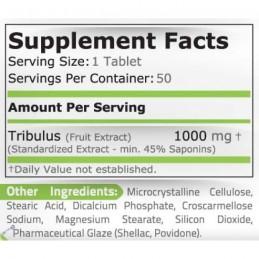 Pure Nutrition USA Tribulus Terrestris 1000 mg 50 Pastile Creste testosteronul, masa musculara, libidoul Beneficii Tribulus: cre