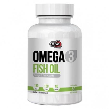 Pure Nutrition USA Omega 3, 1000mg, 50 Gelule, 180 EPA si 120 DHA, Ulei de peste