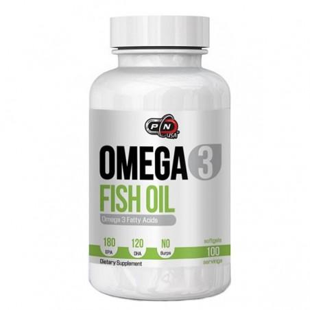 Pure Nutrition USA Omega 3, 1000mg, 100 Gelule, 180 EPA si 120 DHA, Ulei de peste