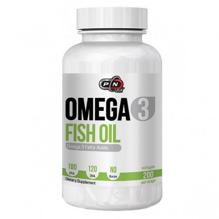 Pure Nutrition USA Omega 3, 1000mg, 200 Gelule, 180 EPA si 120 DHA, Ulei de peste