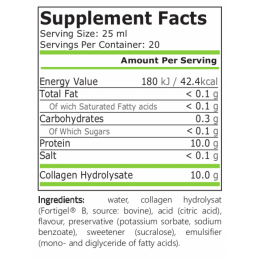 Colagen lichid 500 ml, 10.000 mg, peptide de tip 1 si 3, brevetat si testat clinic