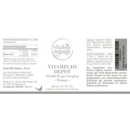 Vitamina D3 lichida picaturi 10.000 UI - Doză Vegană - Doar o servire la 10 Zile