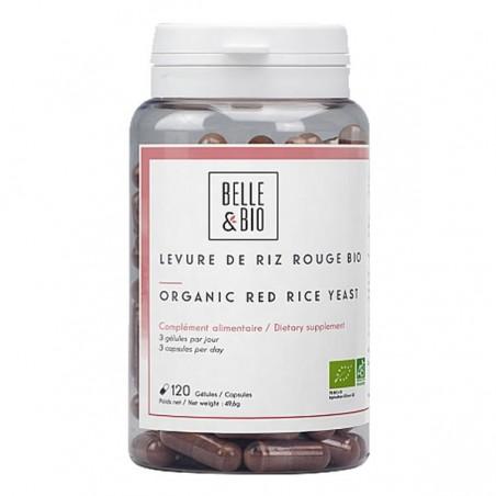 Belle&Bio Drojdie de orez rosu Bio, Red yeast rice BIO, 120 capsule