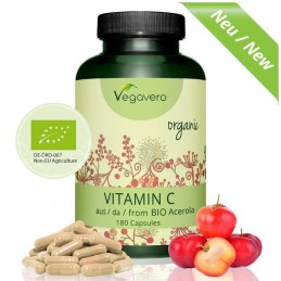 Vitamina C Organica 180 capsule, Vitamina C Bio Naturala