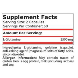 L-Glutamina 1250 mg 100 capsule