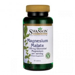 Swanson Magneziu Malat (150 Element) 60 Tablete
