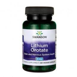 Swanson Ultra Litiu Orotat 5 Mg 60 Capsule