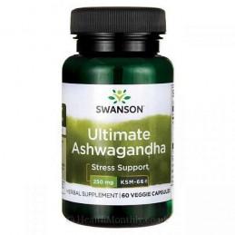 Extract Ashwagandha KSM-66, 250mg, 60 Capsule, ginseng indian, prospect, pret, beneficii, efecte, doze, indicatii