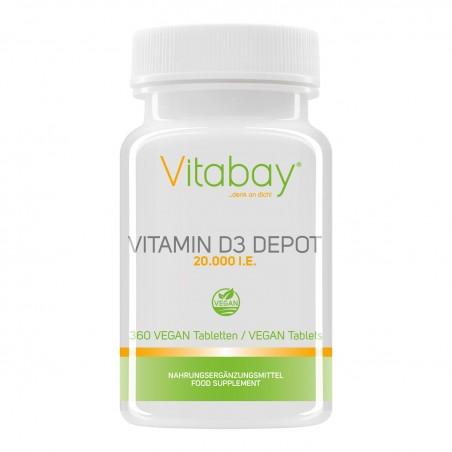 Vitabay Vitamina D3 - 20.000 UI - 360 Tablete