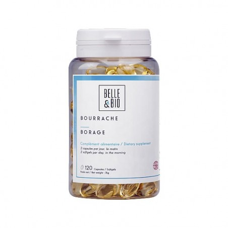 Belle&Bio Ulei Borago Bio - Ulei de limba mielului Bio 120 gelule