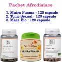 Pachet Afrodisiace: Tonic Sexual + Maca Bio + Muira Puama (120 capsule/fiecare)