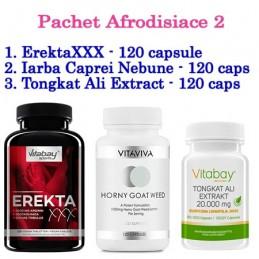 Pachet Afrodisiace2: ErektaXXX+Iarba Tapului+Tongkat Ali Extract, tonic sexual femei si barbati