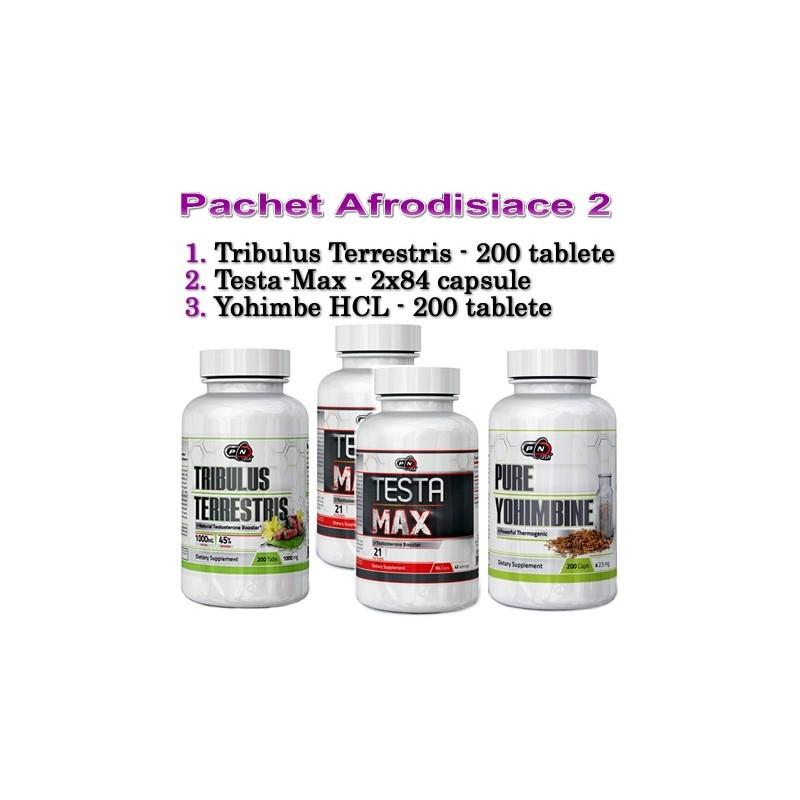 Pachet afrodisiace 2: Tribulus+Testa Max+Yohimbe