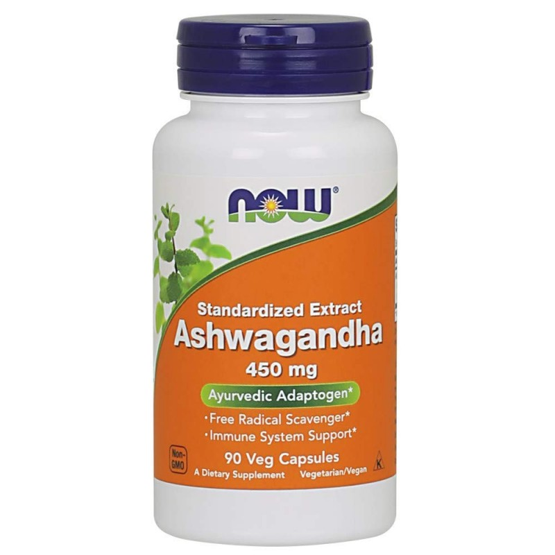 Now Ashwagandha Extract 450Mg 90 Capsule (Withania somnifera)