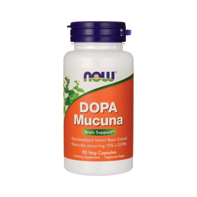 Now L-DOPA Mucuna 90 Capsule, Mucuna Pruriens L-Dopa