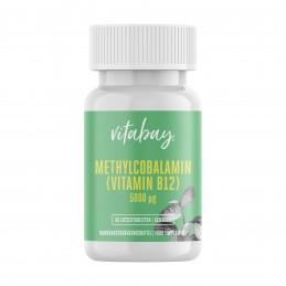 Vitabay Metilcobalamina, Vitamina B12, 5000 mcg, 60 Tablete vegane, 200.000% doza zilnica Beneficii Vitamina B12: un analgezic e