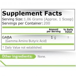 GABA pulbere (Acidul Gamma Aminobutiric) - 212 grame, prospect, doze, efecte, pret, indicatii, pareri