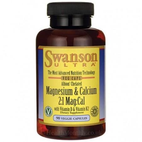 Magneziu, Calciu, Vitamina D3 si K2, 90 Capsule