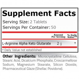 AAKG 1000 mg (Arginina Alfa Ketoglutarat) 100 tablete. Pret, efecte, indicatii, pareri, administrare, prospect