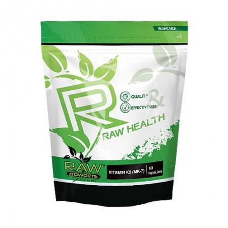 Raw Powders Vitamina K2 (MK-7) 500 mcg 60 Capsule