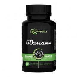 GO SHARP 60 Capsule, Citicolina, Bacopa Monnieri, Vitamina B5 si B12, Extract Panax Ginseng