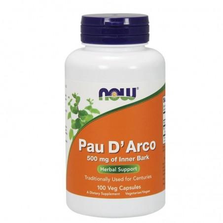 Now Foods Pau D'Arco 500 mg - 100 Capsule