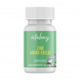 Vitabay Zinc Amino-Chelat 120 portii cu 15 mg zinc pe jumatate de comprimat - doza mare - 60 comprimate