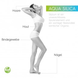 Aqua Silica, 500 ml, siliciu coloidal, vegan și natural, siliciu lichid