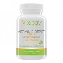 Vitamina D3 - 5.600 UI - 120 Tablete Vegan
