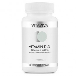 Vitamin D3 5000 IU 125 mcg 100 Capsule 2500% Doza Zilnica, prospect, pret, efecte, deficit, pareri