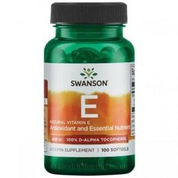Vitamina E Naturala 400 IU (268 mg) 100 Capsule