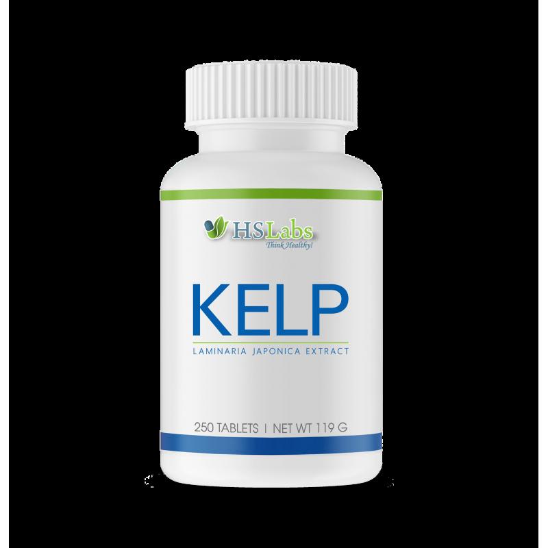 Iod din Kelp, 200 mcg, 250 tablete, concentratie mare, tiroida