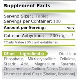 Cafeina anhidra 200 mg 100 tablete, pret, prospect, beneficii, efecte, beneficii