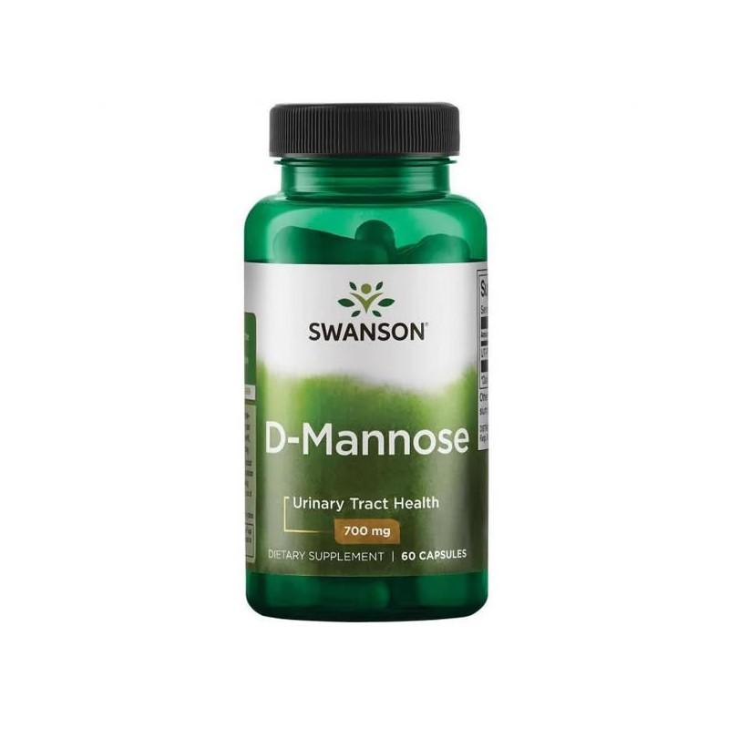 D-Mannose (D-Manoza), 700 mg, 60 Capsule, pret, beneficii, prospect, efecte, indicatii, doze, infectii urinare