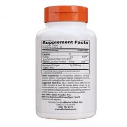 Colagen hidrolizat peptide tip 1 si 3 si Vitamina C, 1000 mg, 180 Pastile, prospect, efecte, beneficii, pret